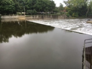 The North Lansing Dam near Old Town